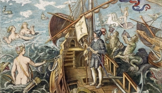 H engraving-of-columbus-standing-on-ship-A