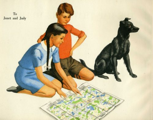 V is for Vintage Maps in Children's Books